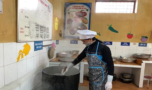 Bếp ăn bán trú Trường mầm non Thanh Khương