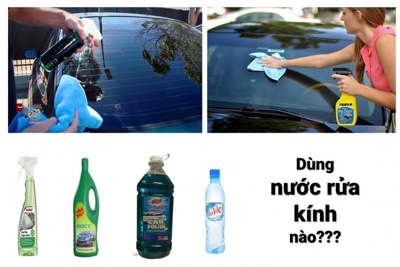 Có nên dùng nước lã để rửa kính ô tô?