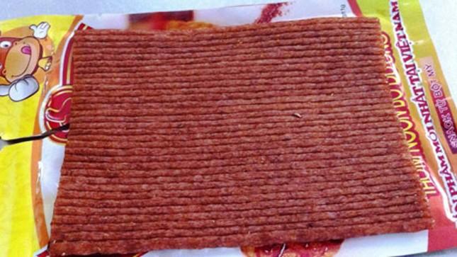 Bò khô làm từ mút xốp tẩm hóa chất?