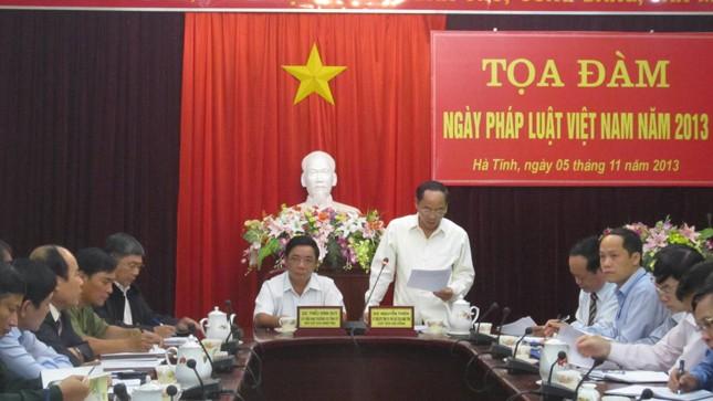 Hà Tĩnh triển khai Ngày Pháp luật Việt Nam 2013
