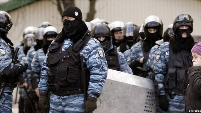Đơn vị cảnh sát Berkut của Ukraine.
