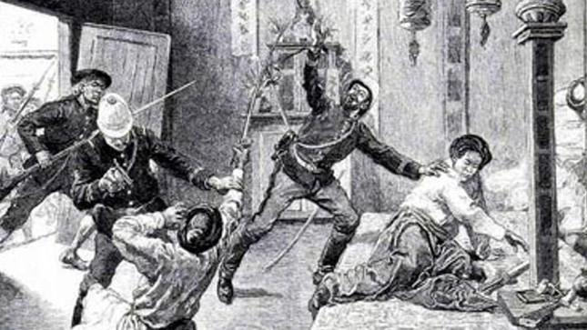 Vua Hàm Nghi bị bắt (tranh vẽ của họa sỹ Pháp)