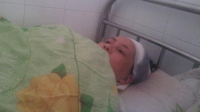Chị Tuyết đang được điều trị tại bệnh viện Đa khoa tỉnh Hải Dương