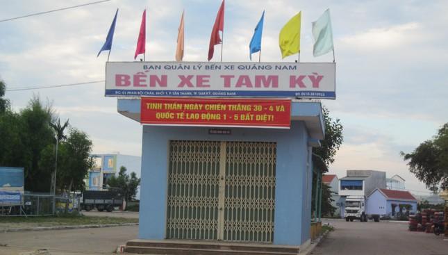 Bến xe Tam Kỳ - nơi Tâm đã thực hiện thành công nhiều vụ cướp tài sản