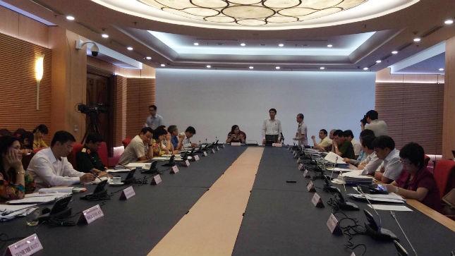 ĐB Chu Sơn Hà phát biểu trong buổi thảo luận