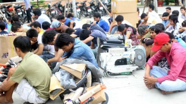 Nhiều đối tượng bị bắt sau vụ lợi dụng biểu tình phản đối Trung Quốc để đập phá các doanh nghiệp. Ảnh: Vnexpress.
