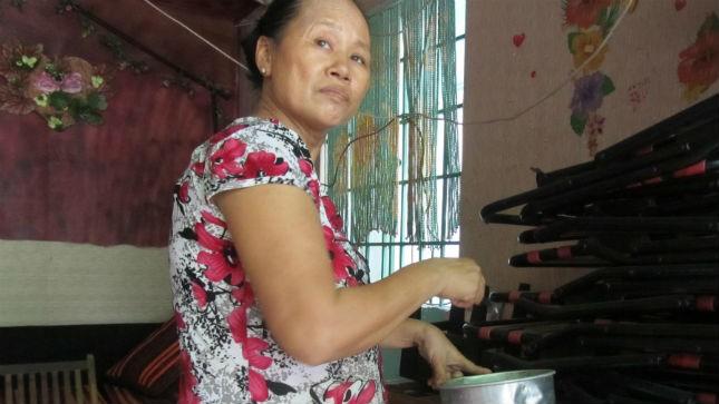 Bà Trần Thị Huế, chủ căn nhà trọ.