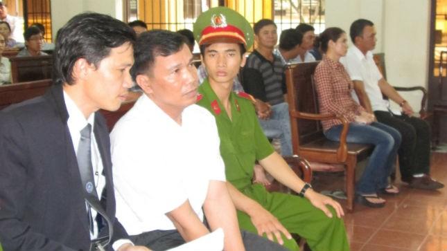 Bị cáo Vinh tại phiên toà sơ thẩm