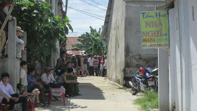 Hiện trường án mạng tại nhà nghỉ ở xã Bình Lâm