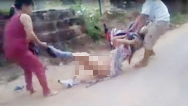 Thiếu phụ 36 tuổi bị chủ nợ lột trần giữa đường