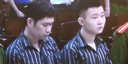 Bị cáo Nguyễn Mạnh Tường và bị cáo Đào Quang Khánh