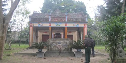 Đền thờ danh thần Nguyễn Văn Giai tại quê hương.