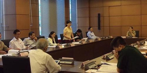 Các ĐB thảo luận tại tổ về Dự thảo Luật điều tra hình sự