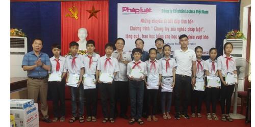 Báo PLVN, Công ty CP Lochsa Việt Nam đến với quê hương Đại tướng Võ Nguyên Giáp