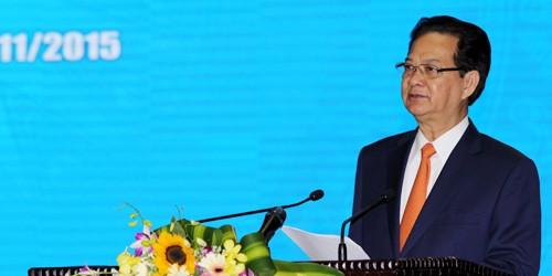 Thủ tướng Nguyễn Tấn Dũng phát biểu tại buổi lễ.