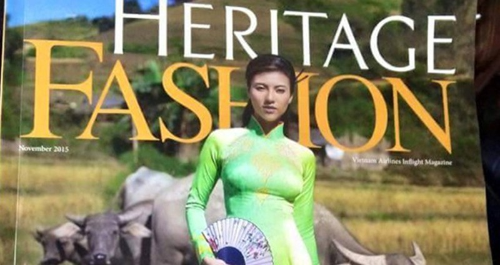 Gắn chùa thiêng Myanmar gắn lên áo dài, tạp chí Heritage bị chỉ trích