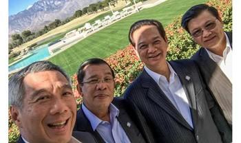Bức ảnh trên trang Facebook của Thủ tướng Singapore
