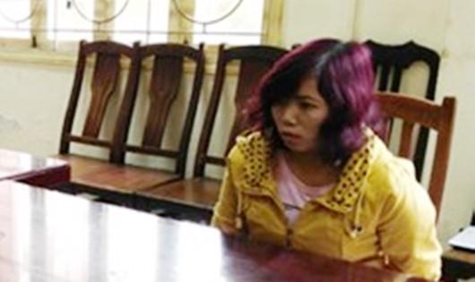 Nghi can Trần Thị Thắng tại cơ quan điều tra