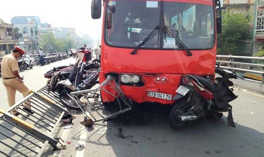 Hiện trường một vụ tai nạn giao thông (hình minh họa - Internet)
