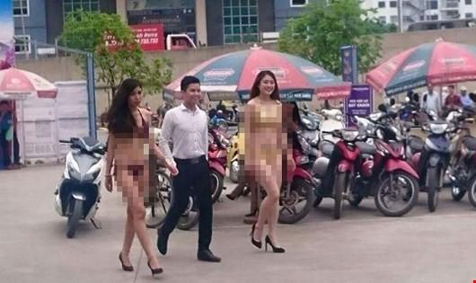 Hình ảnh phản cảm tại siêu thị điện máy Trần Anh
