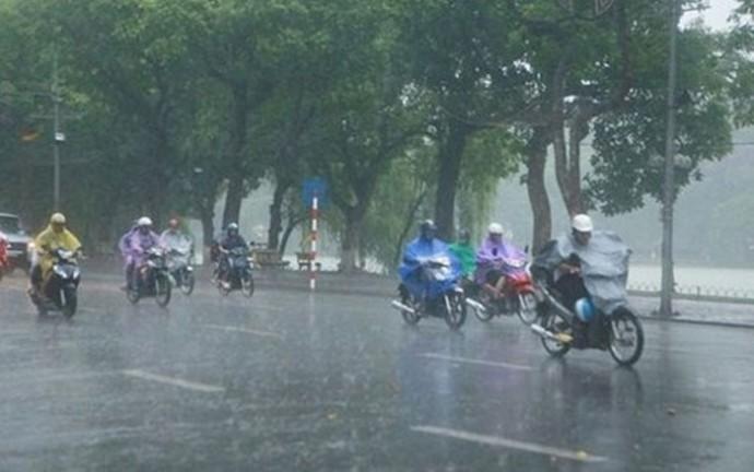Đêm nay Hà Nội sẽ có mưa vừa đến mưa to