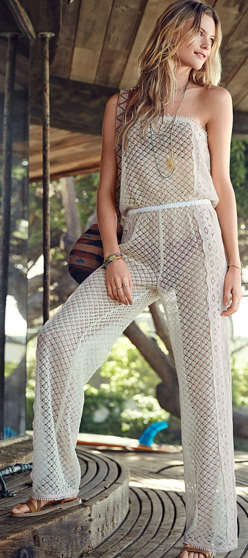 Sheer Lace Jumpsuit - 52 Beach Outfits - VS Swim 2015 @styleestate