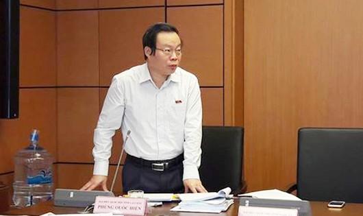 """Phó Chủ tịch QH Phùng Quốc Hiển (ĐBQH tỉnh Lai Châu): """"Chúng ta cần phải tiết kiệm sử dụng tài nguyên, phải nâng cao chất lượng lao động, dựa vào nguồn lao động."""""""