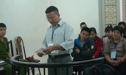 Ông Phạm Quang Điều tại tòa phúc thẩm.