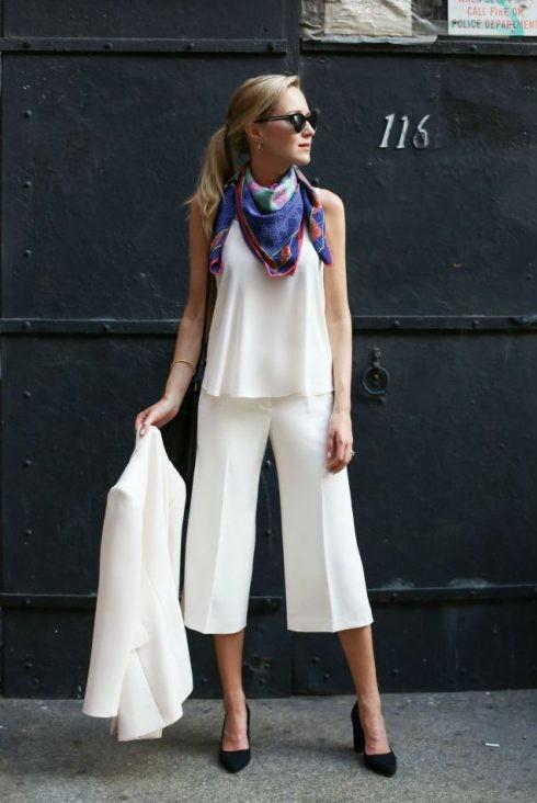 quần lửng ống rộng mặc với áo gì - áo hai dây camisole