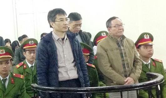 Các bị cáo trong phiên tòa xét xử