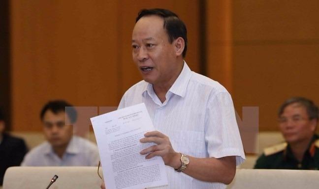 Thượng tướng Lê Quý Vương, Thứ trưởng Bộ Công an phát biểu ý kiến. (Ảnh: Phương Hoa/TTXVN)