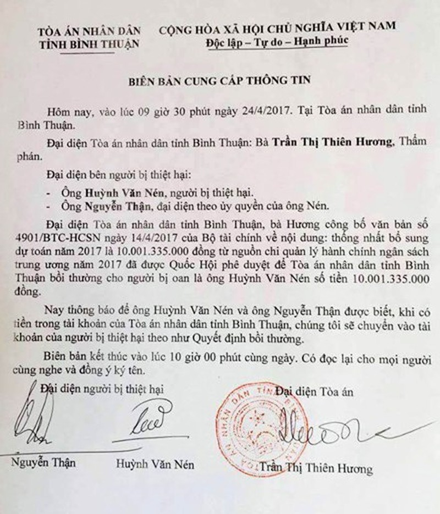 Ông Huỳnh Văn Nén sắp nhận 10 tỷ đồng bồi thường ảnh 1