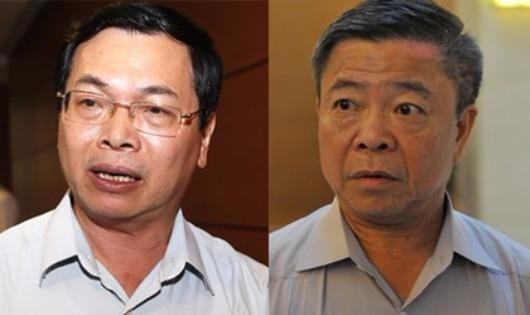 Ông Vũ Huy Hoàng bị cách chức nguyên bộ trưởng Bộ Công thương và ông Võ Kim Cự bị cách chức nguyên Bí thư Tỉnh ủy Hà Tĩnh. (ảnh Như Ý)