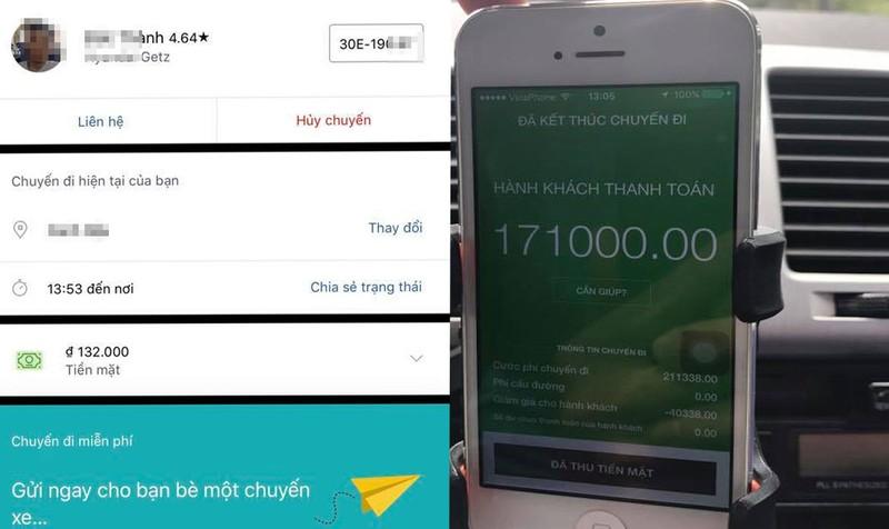 Báo giá và số tiền thực tế phải trả của khách hàng sử dụng Uber