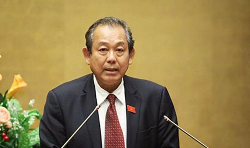 Phó Thủ tướng Thường trực Trương Hoà Bình, Trưởng Ban Chỉ đạo phòng, chống tội phạm của Chính phủ.