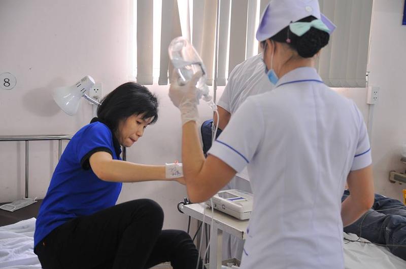 Công nhân đang được điều trị tại bệnh viện Đa khoa Đồng Nai.