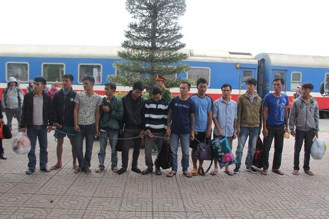 14 đối tượng truy nã bị Công an Thanh Hóa bắt.