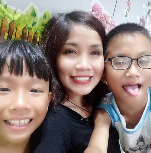 Chị Trúc Phương một mình nuôi hai con sau ly thân.