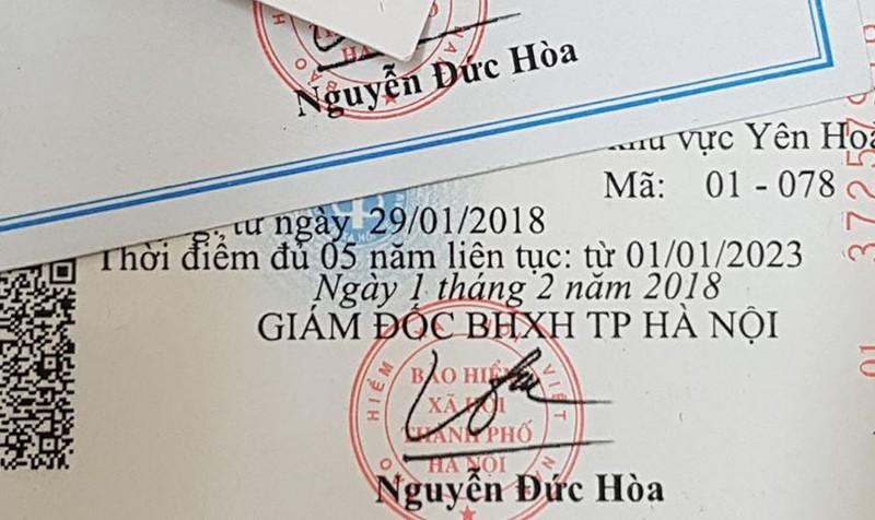 Thẻ BHYT của một học sinh lớp 6 bị sai thông tin thời điểm đủ 5 năm liên tục.