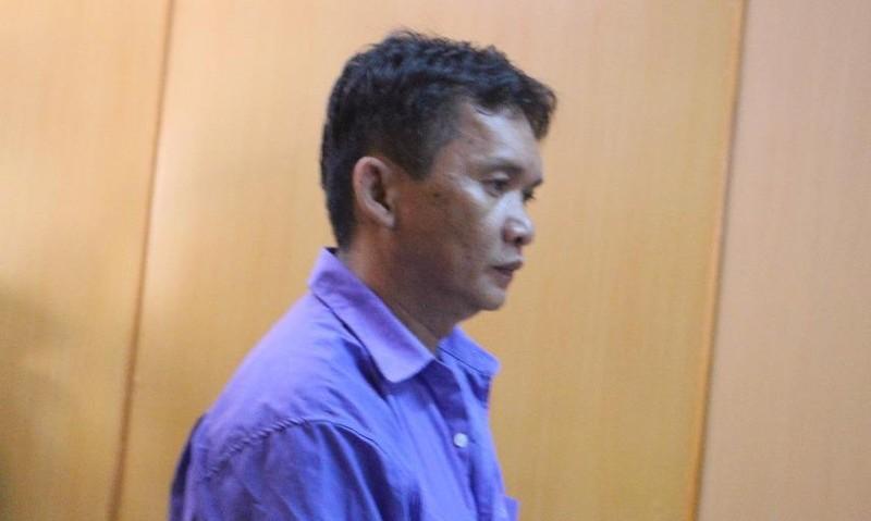 Bị cáo Vũ tại phiên tòa