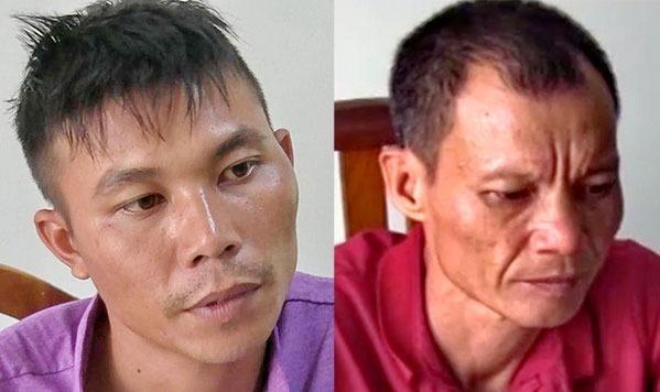 Hai đối tượng Nguyễn Văn Ý vàTạ Thành Duytại Công an TP Nha Trang.