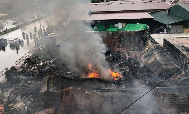 Cháy chợ Gạo Hưng Yên