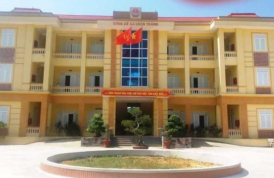 Công sở xã Luận Thành, nơi chị Nguyễn Thị Nh. bị con trai nữ hiệu trưởng mầm non xông vào hành hung