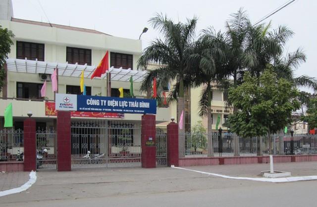 Trụ sở Công ty Điện lực tỉnh Thái Bình, nơi ông T. từng giữ chức vụ phó giám đốc. Ảnh: Ngọc Chi