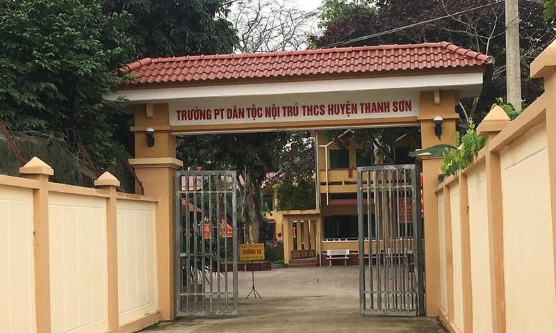 Trường PTDTNT THCS Thanh Sơn - nơi xảy ra vụ việc