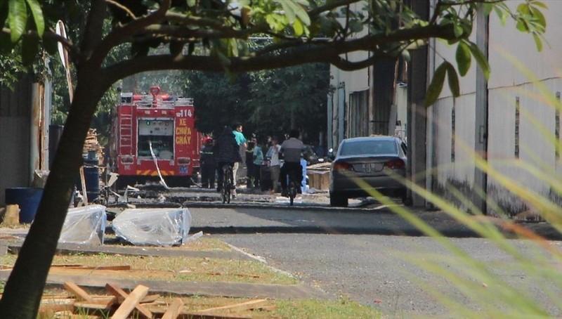 Cháy lớn ở Công ty Moashterprise Việt Nam 1 người tử vong