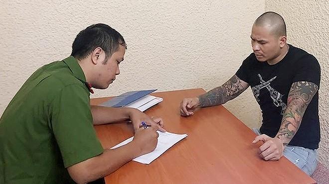 Cơ quan CSĐT - CATP Hà Nội lấy lời khai Đỗ Văn Quang