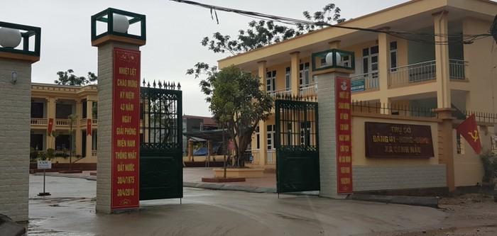 Trụ sở UBND xã Canh Nậu.