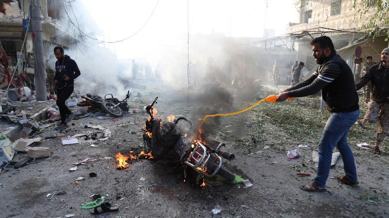43 người thương vong trong vụ đánh bom ở Syria (Ảnh: CNN)