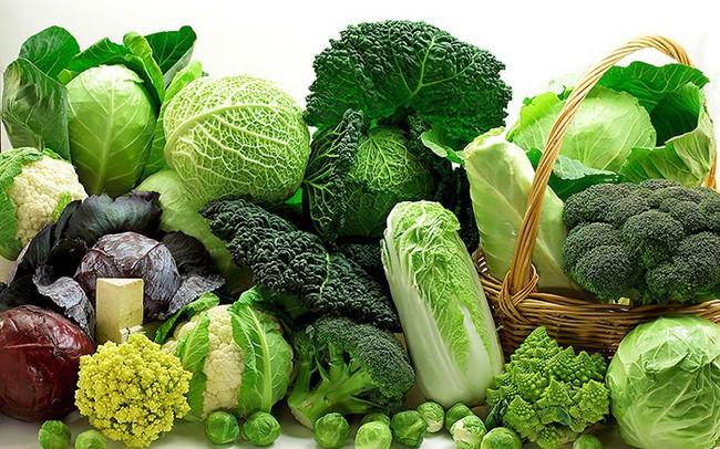 Rau và hoa quả tươi có tác dụng giảm tỉ lệ bị mắc các loại ung thư.